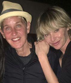 Ellen Degeneres And Portia, Ellen And Portia, I Smile, Make Me Smile, Portia De Rossi, Celebrity Couples, Celebrities, People, Celebs