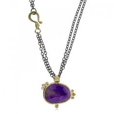 Ancient Pebble amethyst pendant by Rona Fisher.