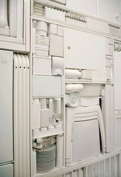 Ghost II, a white object installation by Michael Johansson