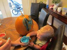 Yogurt Pumpkin Painting