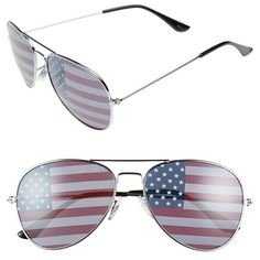 Junior BP. American Flag 60mm Aviator Sunglasses (16 AUD) ❤ liked on Polyvore featuring accessories, eyewear, sunglasses, american flag glasses, aviator style sunglasses, metal glasses, metal aviator sunglasses and usa flag sunglasses