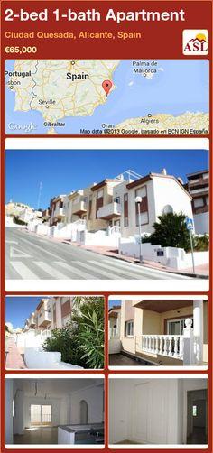 2-bed 1-bath Apartment in Ciudad Quesada, Alicante, Spain ►€65,000 #PropertyForSaleInSpain