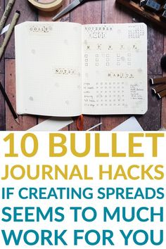 If you say that you're to busy to start a bullet journal, check out these 10 awesome bullet journal hacks to make your life easier Create your monthly layouts, weekly spreads and other collection pages with ease. Bullet Journal Font, Bullet Journal Hacks, Bullet Journal Printables, Bullet Journal How To Start A, Bullet Journal Spread, Bullet Journal Ideas Pages, Bullet Journal Inspiration, Journal Pages, Bullet Journals