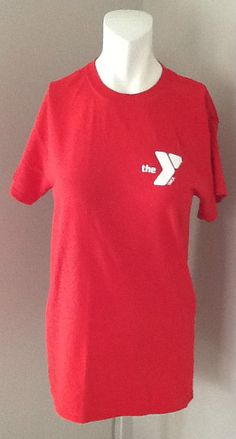 THE YMCA INSTRUCTOR RED T SHIRT SIZE SMALL #GILDAN #PersonalizedTee