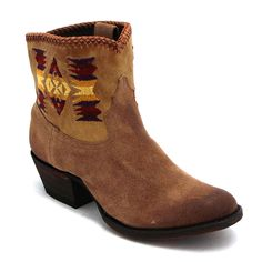 "Caborca 7"" Blanket Stitch Guzabano Boot at Maverick Western Wear"
