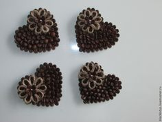 Jute Crafts, Pine Cone Crafts, Diy Home Crafts, Diy Craft Projects, Fall Crafts, Christmas Crafts, Coffee Bean Decor, Coffee Bean Art, Coffee Beans