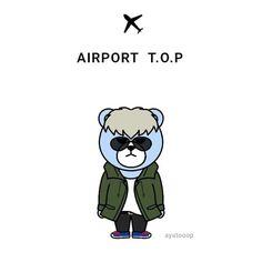 Bigbang Krunk, Top Choi Seung Hyun, Idol, Kawaii, Bear, Fictional Characters, Tops, Art, Bears