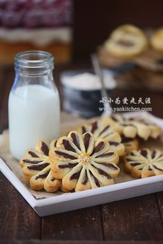 Flower Shape Pastry Cookies with Red Bean Filling — Yankitchen