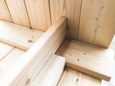 Gjør det selv – blomsterkasse i Sibirsk Lerk med selvvanning – Gjør det selv Garden Planter Boxes, Floor Chair, Flooring, Wood, Outdoors, Furniture, Home Decor, Gardens, Woodworking Projects