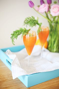 Carrot and Orange Mimosas