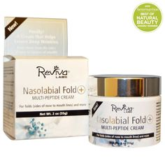 Reviva Labs, Nasolabial Fold , крем с мультипептидами, 2 унции (55 г)