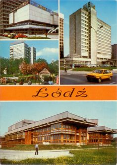 Postcard of Łódź, Poland, 1980  #socialist #brutalism #architecture