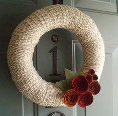 Yarn Wreaths - New craft obsession.