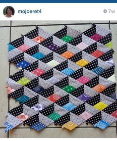 Best 9 So I started playing with and my scraps last week and this happened…… I just need to square off the remaining 3 sides and then ponder over how to quilt it. It's mini size and is a possibility for my partner even 3d Quilts, Scrappy Quilts, Mini Quilts, Easy Quilts, Geometric Quilt, Hexagon Quilt, Quilt Block Patterns, Tumbling Blocks Quilt, Quilt Blocks