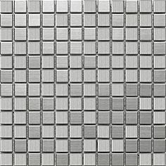 @Overstock - Update your kitchen, bathroom or backsplash with brushed stainless steel over porcelain tilesSomerTile wall tiles come in a chromium color patternThe contemporary design of the mosaic tile sheet is styled for interior usehttp://www.overstock.com/Home-Garden/SomerTile-11-7-8x11-7-8-in-Chromium-Stainless-1-in-Steel-Porcelain-Mosaic-Tile-Pack-of-10/4513153/product.html?CID=214117 $232.99