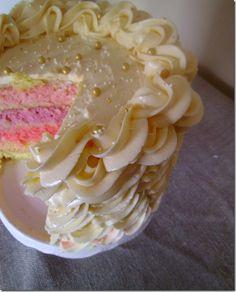 Rainbow cake - close up