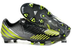 official photos 71591 30b9b Adidas Predator 2012 LZ Tur Black Volt Metallic Silver Beckham Soccer Shoes   58 Cheap Soccer Shoes