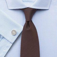 Sky square weave spread Slim fit shirt
