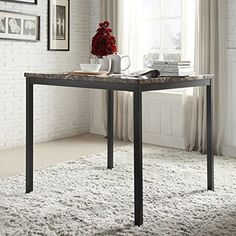 42 square black laminate table top with 33 x 33 bar height rh pinterest com