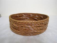 Braided Pine Needle Round Basket