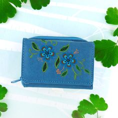 LAVISHY vegan leather embroidered wallet with carnation flower applique Shop now at http://www.lavishy.ca/products.php?cat_id=49&page_size=all #vegan #wallet #flower #carnation #gift #shopping