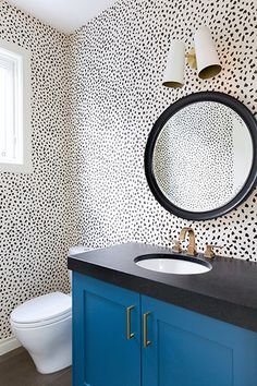 Powder Room After - How 1 Designer Transformed 3 Different Bathrooms - Photos