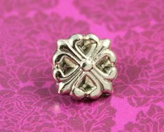 Trefoil Cross Metal Buttons , Shiny Silver Color , Shank , 0.43 inch , 10 pcs by Lyanwood, $4.00