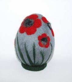 Big Of Easter Egg with The Flowers by ARTINOVA on Etsy