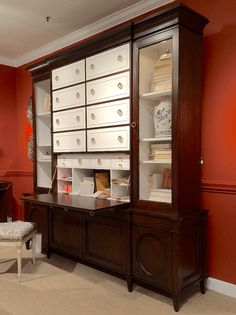 High Point Market Fall 2015 | Design Blogger's Tour | Part I - laurel home | Exquisite secretary from Ambella Home #hpmkt #designbloggerstour @ambellahome #neotraditional