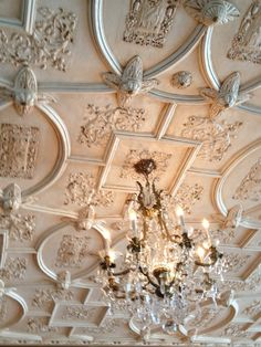 Plaster Ceiling Detail Another Tudor Pattern With Roses As