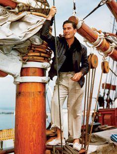 Errol Flynn and his yacht Zaca