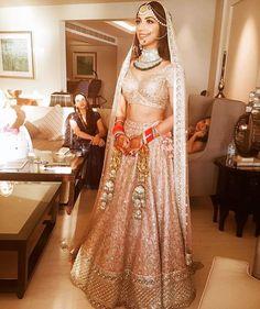 Gold decadent bridal by Sabyasachi Indian Bridal Lehenga, Indian Bridal Outfits, Indian Bridal Wear, Asian Bridal, Indian Dresses, Bridal Dresses, Indian Wear, Indian Clothes, Gold Lehenga Bridal