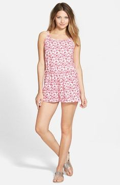 BP. Print Cotton Romper (Juniors) available at #Nordstrom