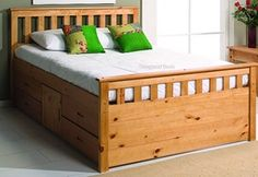 High double bed with extra storage drawers