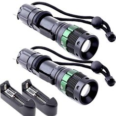 Creazy 2X Ultrafire Tractical 2000 Lumen Zoom CREE XML T6 LED Flashlight 18650 Charger *** Learn more by visiting the image link.