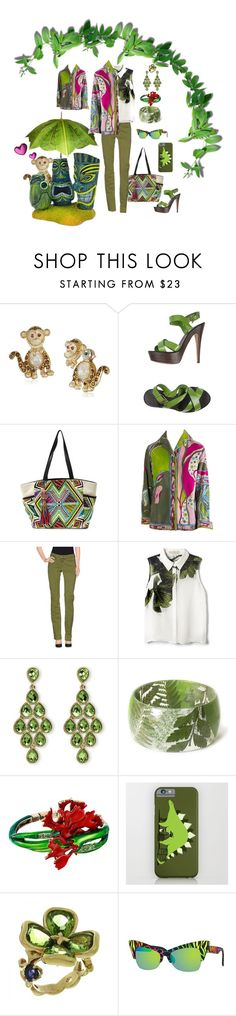 """""""MONKEY LOVE! <2nd in Earth Tone Series>"""" by hrhjustcuz ❤ liked on Polyvore featuring Betsey Johnson, PrimaDonna, Steven by Steve Madden, Emilio Pucci, 9.2 by Carlo Chionna, Elle Sasson, Palm Beach Jewelry, Oscar de la Renta, Chanel and Italia Independent"""