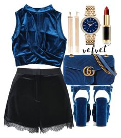 """""""Untitled #1915"""" by mihai-theodora ❤ liked on Polyvore featuring Topshop, Miu Miu, Gucci, Michael Kors and L'Oréal Paris"""