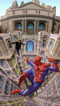 3D Art of the road - Arrrrr !! spidermann love it
