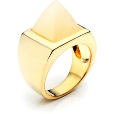 Eddie Borgo Aragonite Pyramid Ring (£155) ❤ liked on Polyvore featuring jewelry, rings, eddie borgo jewelry, pyramid ring, pyramid jewelry, eddie borgo ring and eddie borgo