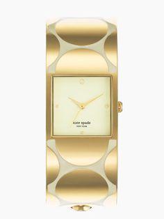 Kate Spade New York Deborah Dot Delacorte Swatch, Jewelry Accessories, Fashion Accessories, Watch Accessories, Jewelry Box, Fashion Shoes, Gold Polka Dots, Mellow Yellow, Luxury Watches