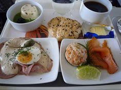This delicious meal was served on a 2009 Lufthansa flight in business class.