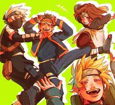 Naruto Kakashi, Anime Naruto, Hinata, Naruto Teams, Naruto Shippuden Anime, Naruto Art, Boruto, Manga Anime, Team Minato