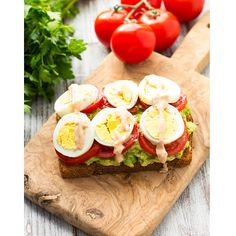 Avocado, Tomato, and Sliced Egg Toast
