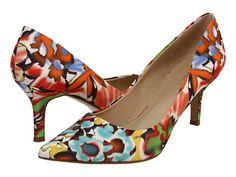 Nine West Austin (White Print Multi Fabric) Design works No.1371 |White Heels|