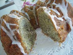 dulce y algo salado-cursos de galletas decoradas: Pastel de Limon,almendras y semillas de amapola.