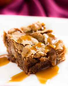 Caramel apple cake is a delicious fall dessert. Each slice has tender apple bits, hints of cinnamon and a drizzle of caramel when served!