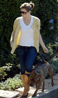 Jessica Biel - celebrities and their dogs