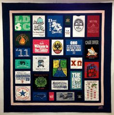 Sam's Custom T-Shirt Quilt by Patchwork Memories, via Flickr
