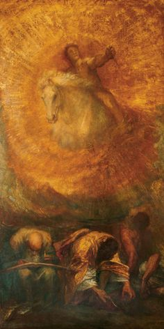 George Frederic Watts OM RA,  Progress,  Oil on canvas, 1902-04  ©Watts Gallery