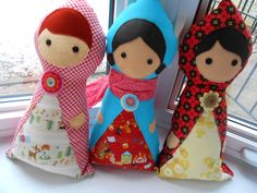 Make for A to go with Matryoshka skirt - Little Traveller Doll PDF Sewing Pattern  Rag Doll  by DeliaLane,